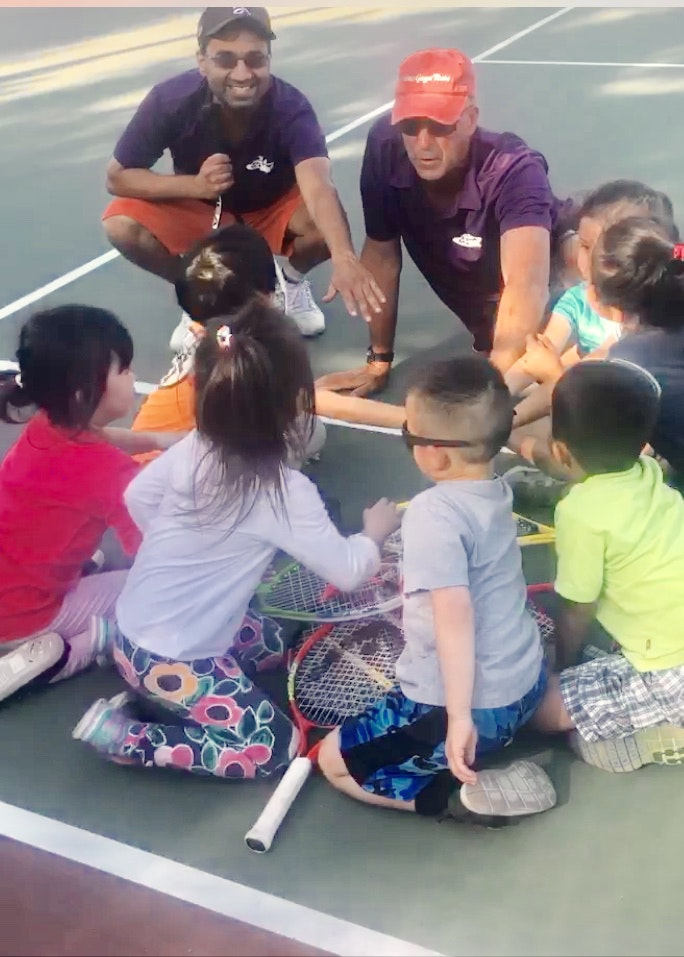 Amitabh A. teaches tennis lessons in Rancho Cucamonga , CA