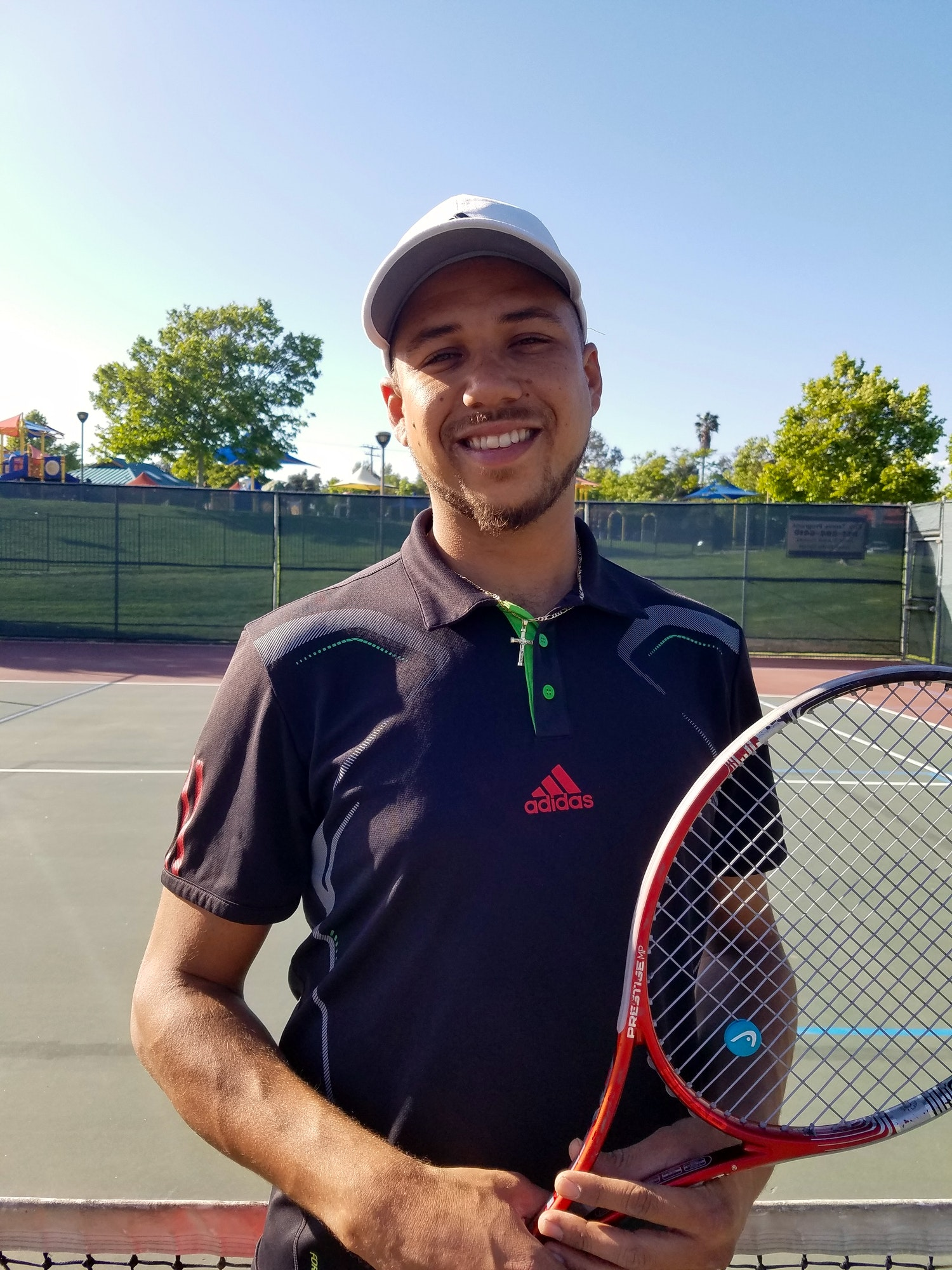 Peter D. teaches tennis lessons in Perris, CA