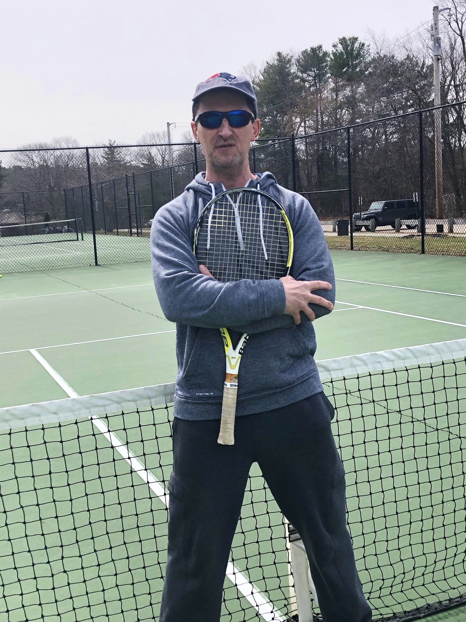Mike Q. teaches tennis lessons in Braintree , MA