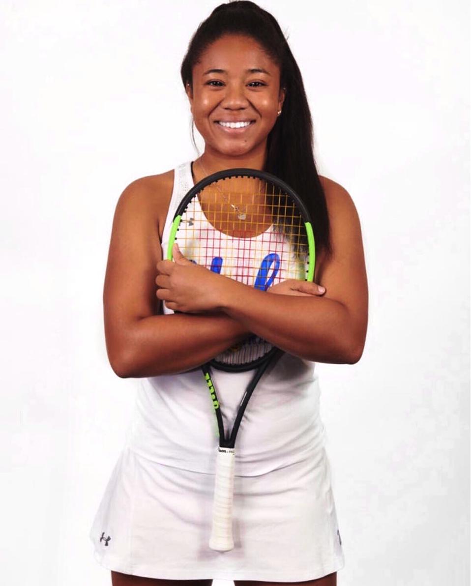 Gabrielle A. teaches tennis lessons in Pomona, CA