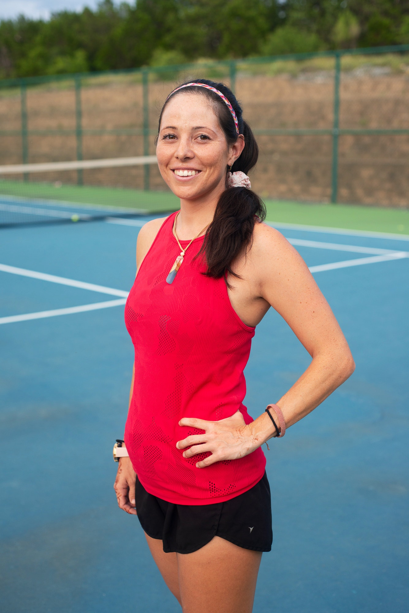 Katie D. teaches tennis lessons in Universal City, TX