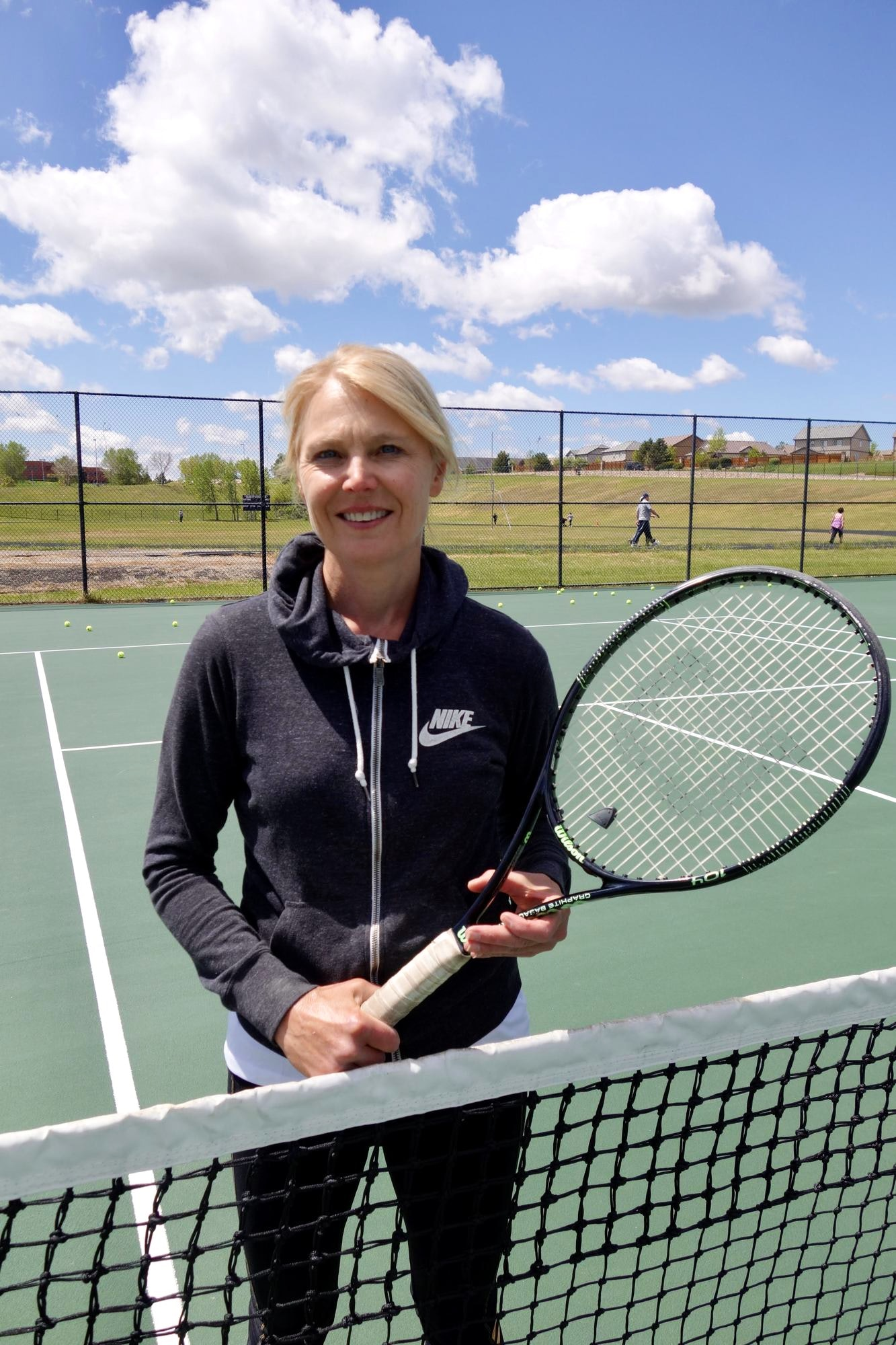 Stacey T. teaches tennis lessons in Aurora, CO
