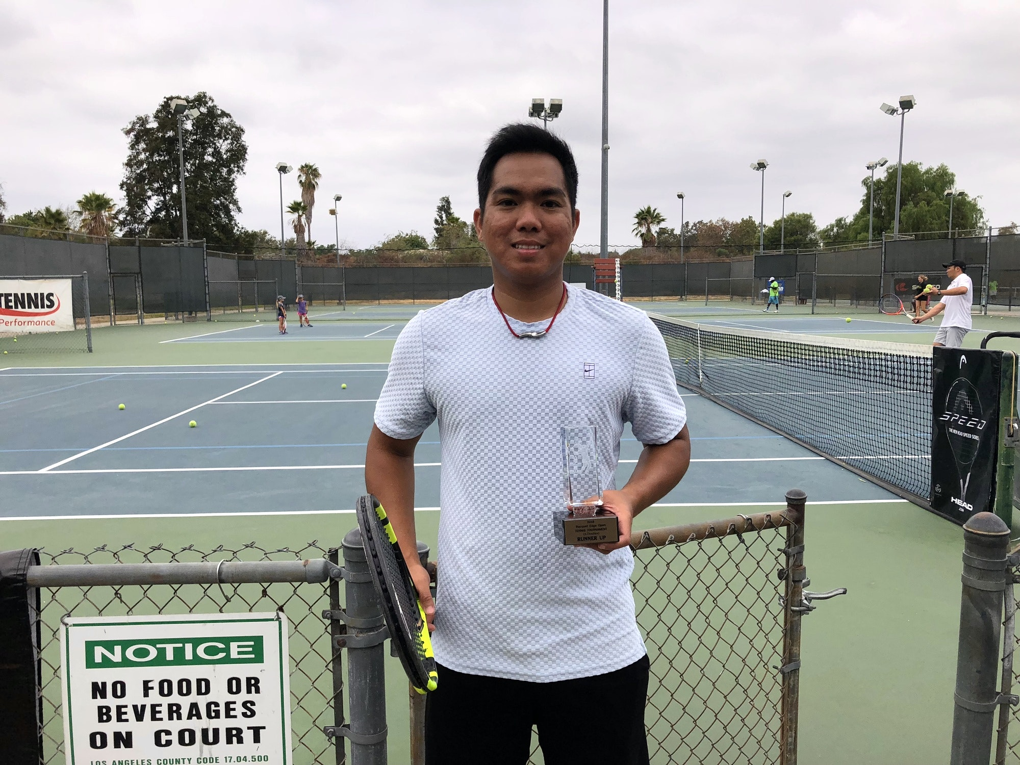 John teaches tennis lessons in Glendora, CA