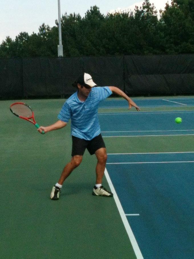 Brad S. teaches tennis lessons in Raleigh, NC