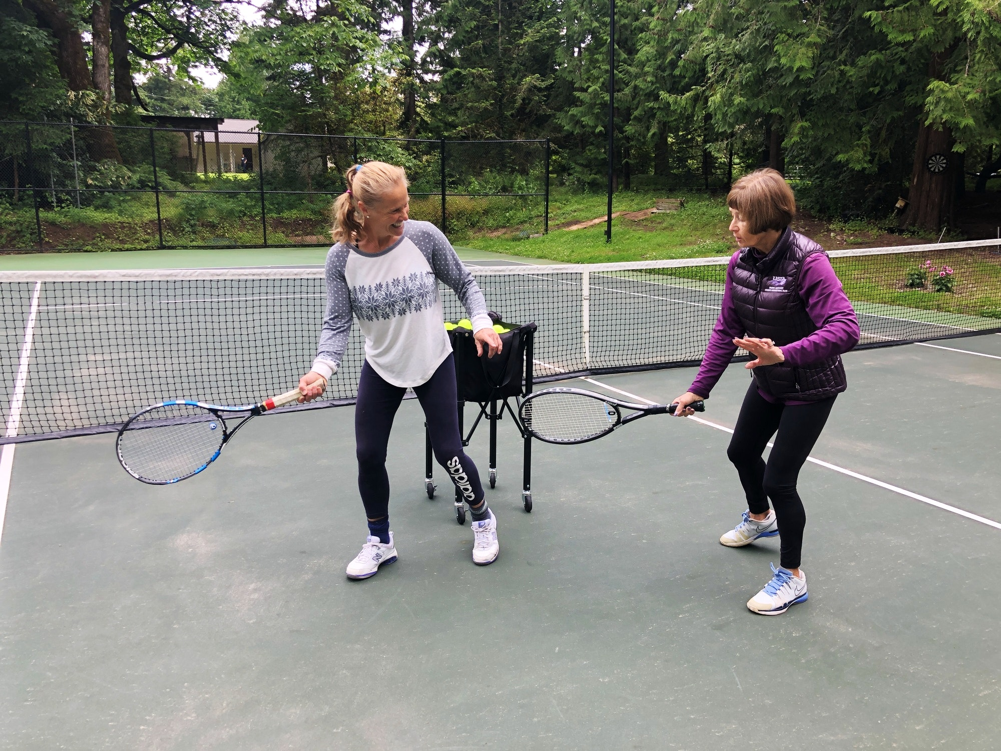 Janet M. teaches tennis lessons in Woodinville, WA