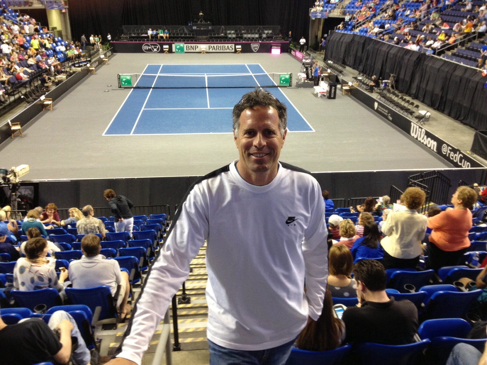 Ted B. teaches tennis lessons in Leawood, KS