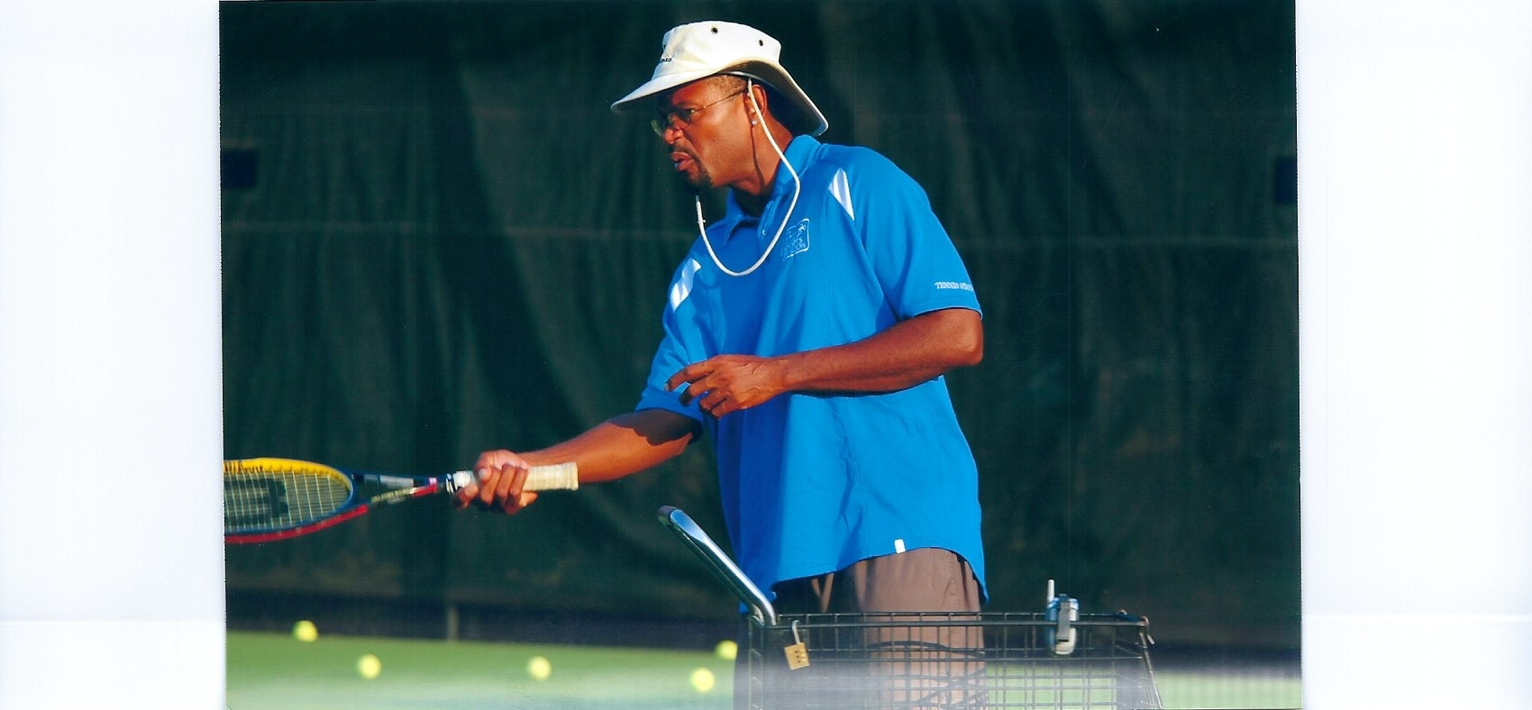 Peter T. teaches tennis lessons in Washington , DC