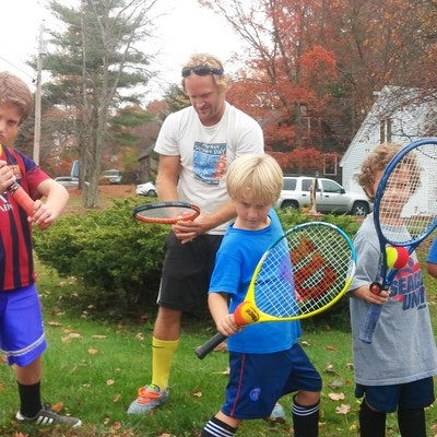 John R. teaches tennis lessons in South Berwick, ME