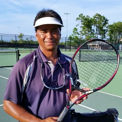 Dave G. teaches tennis lessons in Shallotte, NC