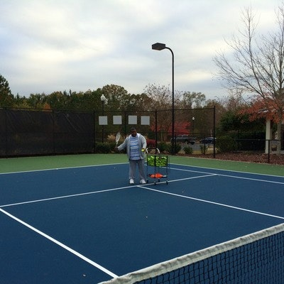 Perry C. teaches tennis lessons in Douglasville , GA