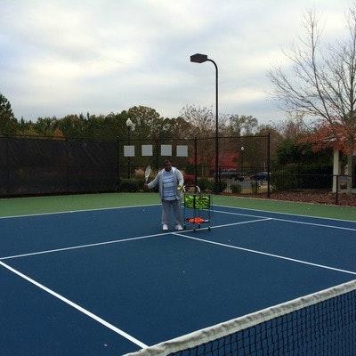 Perry C. teaches tennis lessons in Douglasville , GA