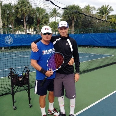 Sergei F. teaches tennis lessons in Ventura, FL