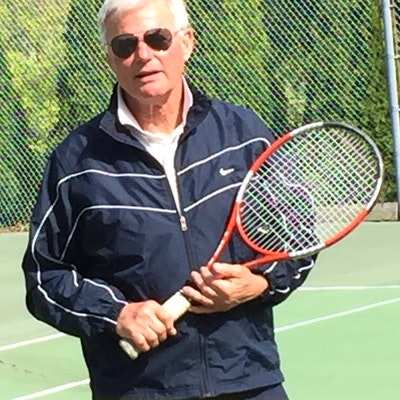 Peter K. teaches tennis lessons in Falmouth, MA