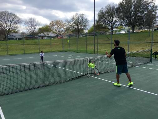 Preetham P. teaches tennis lessons in Austin, TX