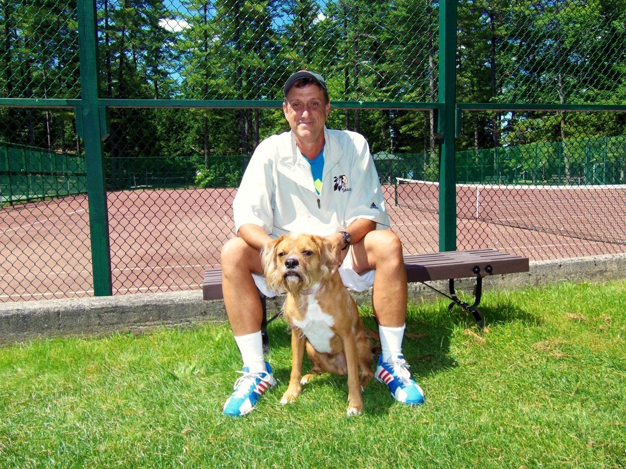 Dan A. teaches tennis lessons in Palm Desert , CA