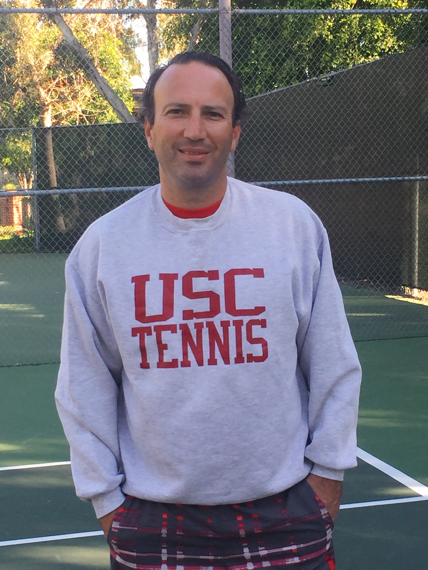 Alex V. teaches tennis lessons in Irvine, CA