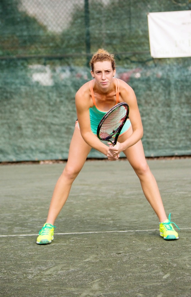 Elizaveta I. teaches tennis lessons in Jupiter, FL