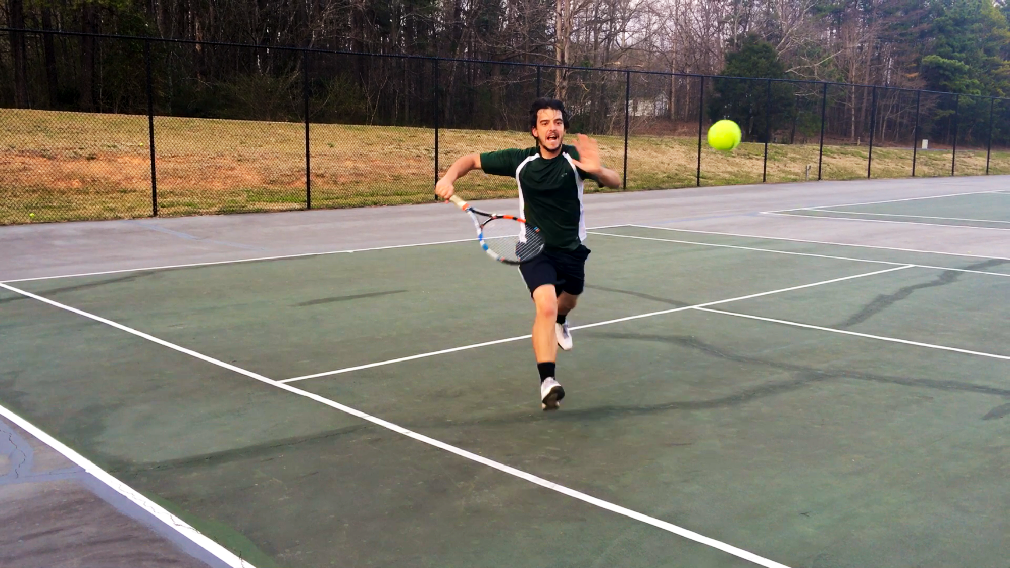 Tj L. teaches tennis lessons in Lexington, NC