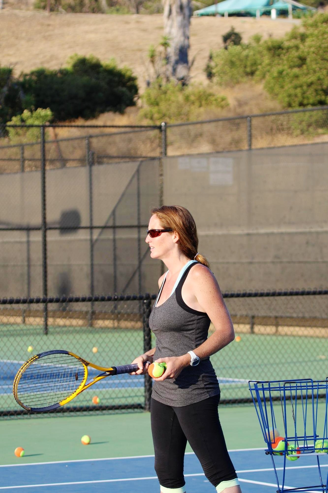 Margarita teaches tennis lessons in Costa Mesa, CA