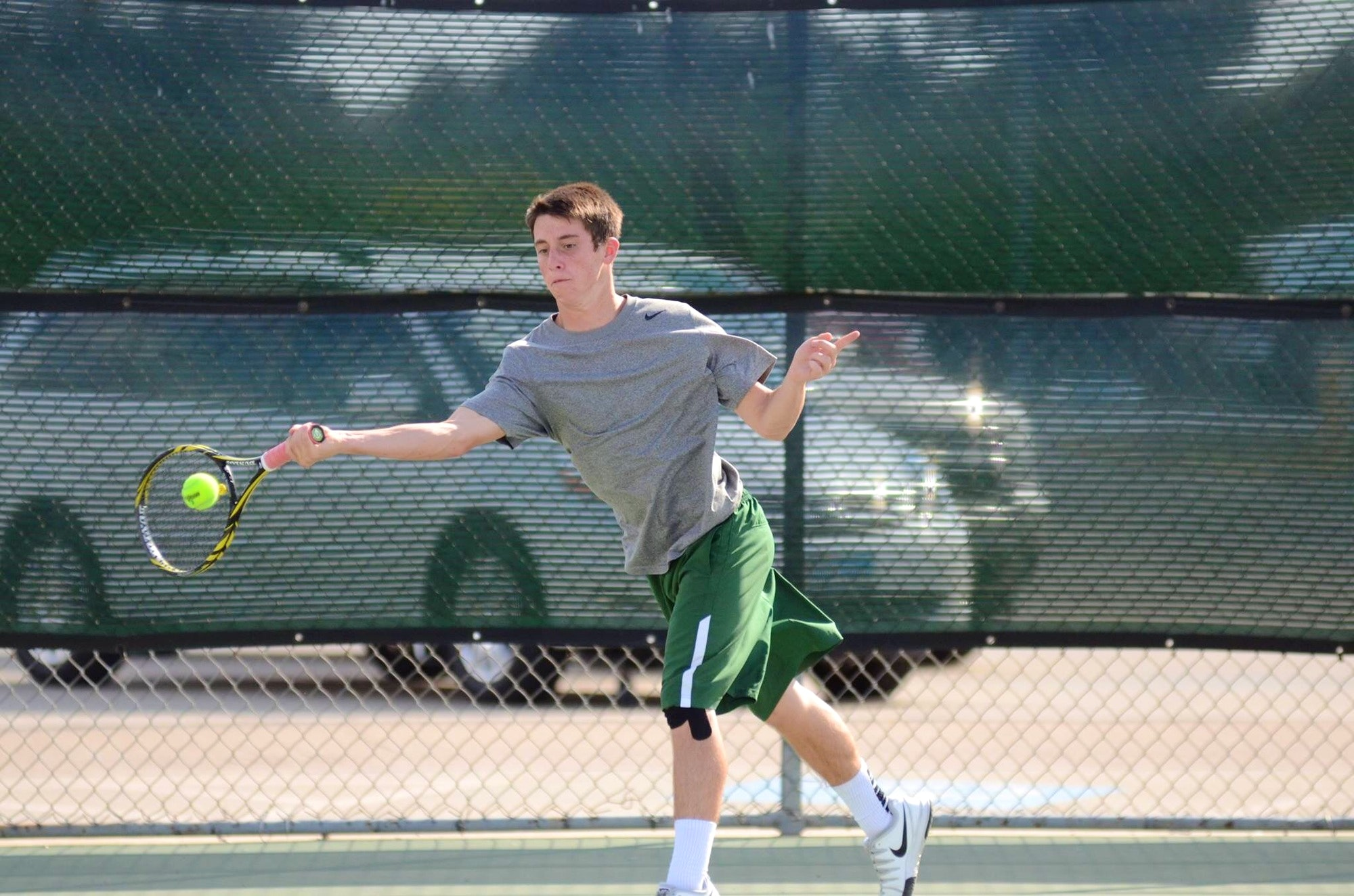 Elijah C. teaches tennis lessons in New Braunfels , TX
