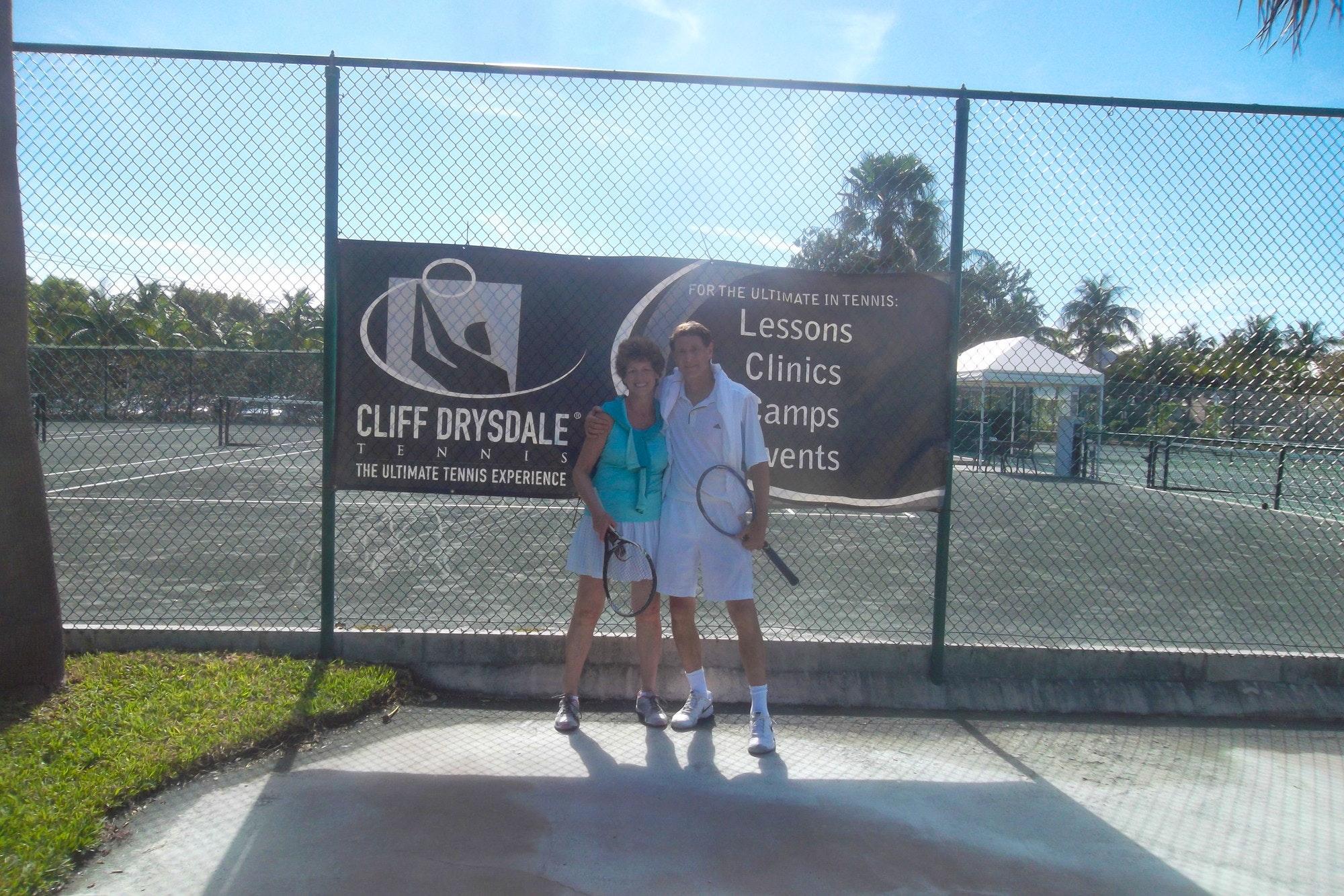 Douglas teaches tennis lessons in Towson, MD