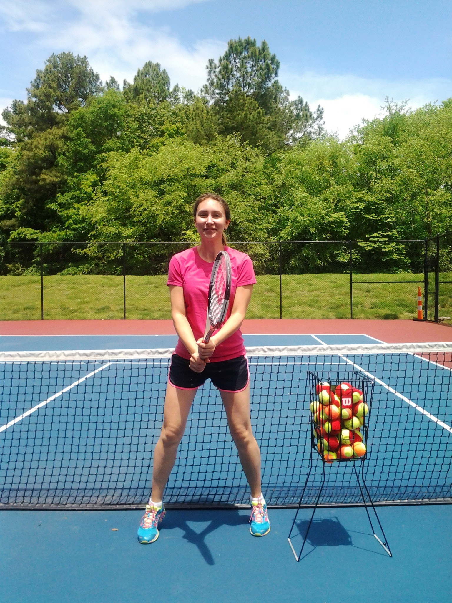 Polina C. teaches tennis lessons in Cary, NC
