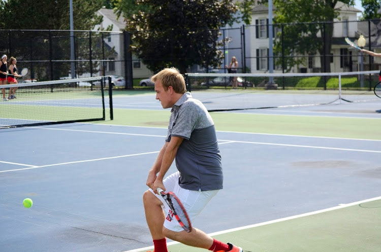 Stefan T. teaches tennis lessons in Wilmington, OH