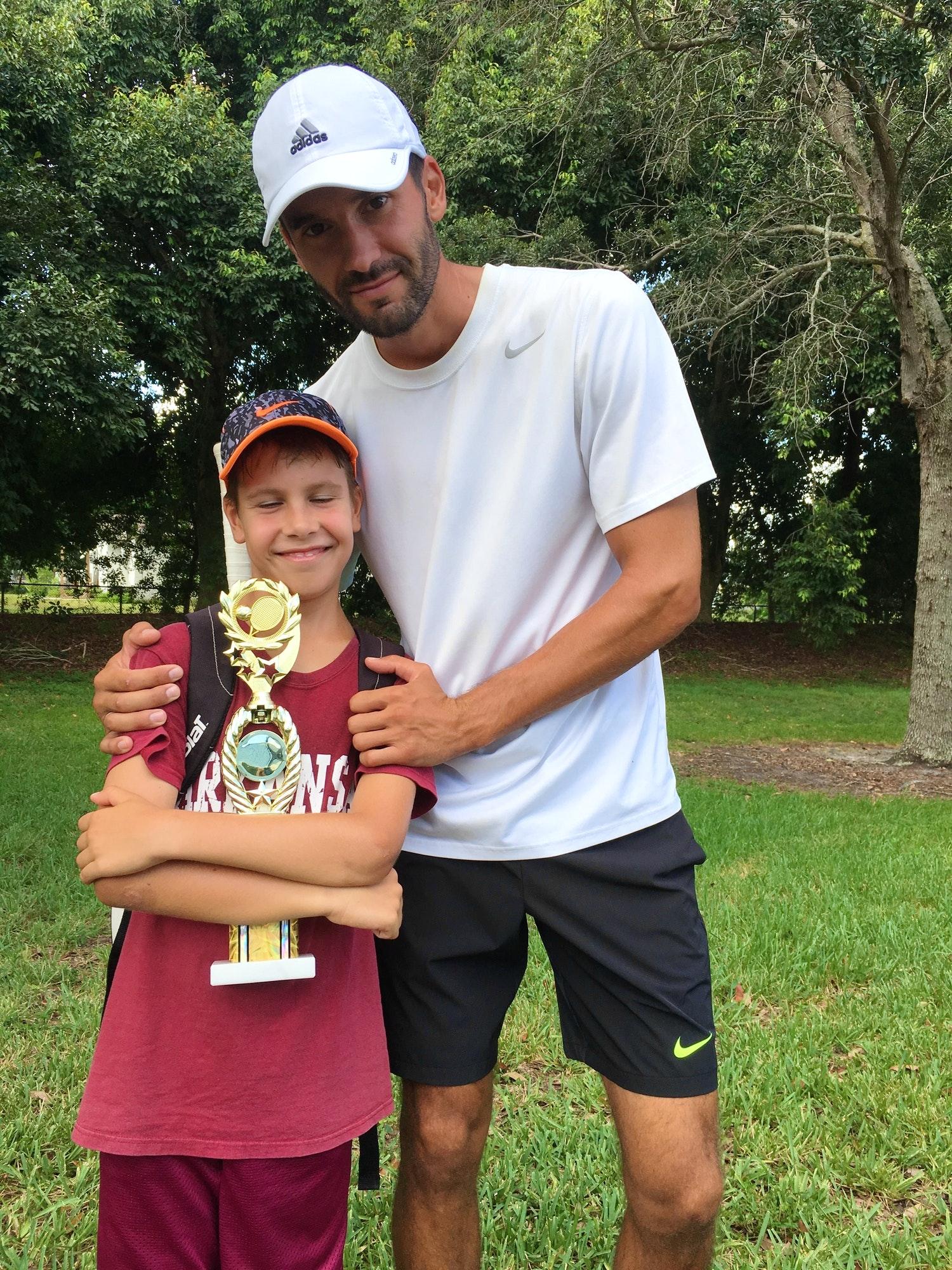 Oleksandr K. teaches tennis lessons in Sunny Isles Beach, FL
