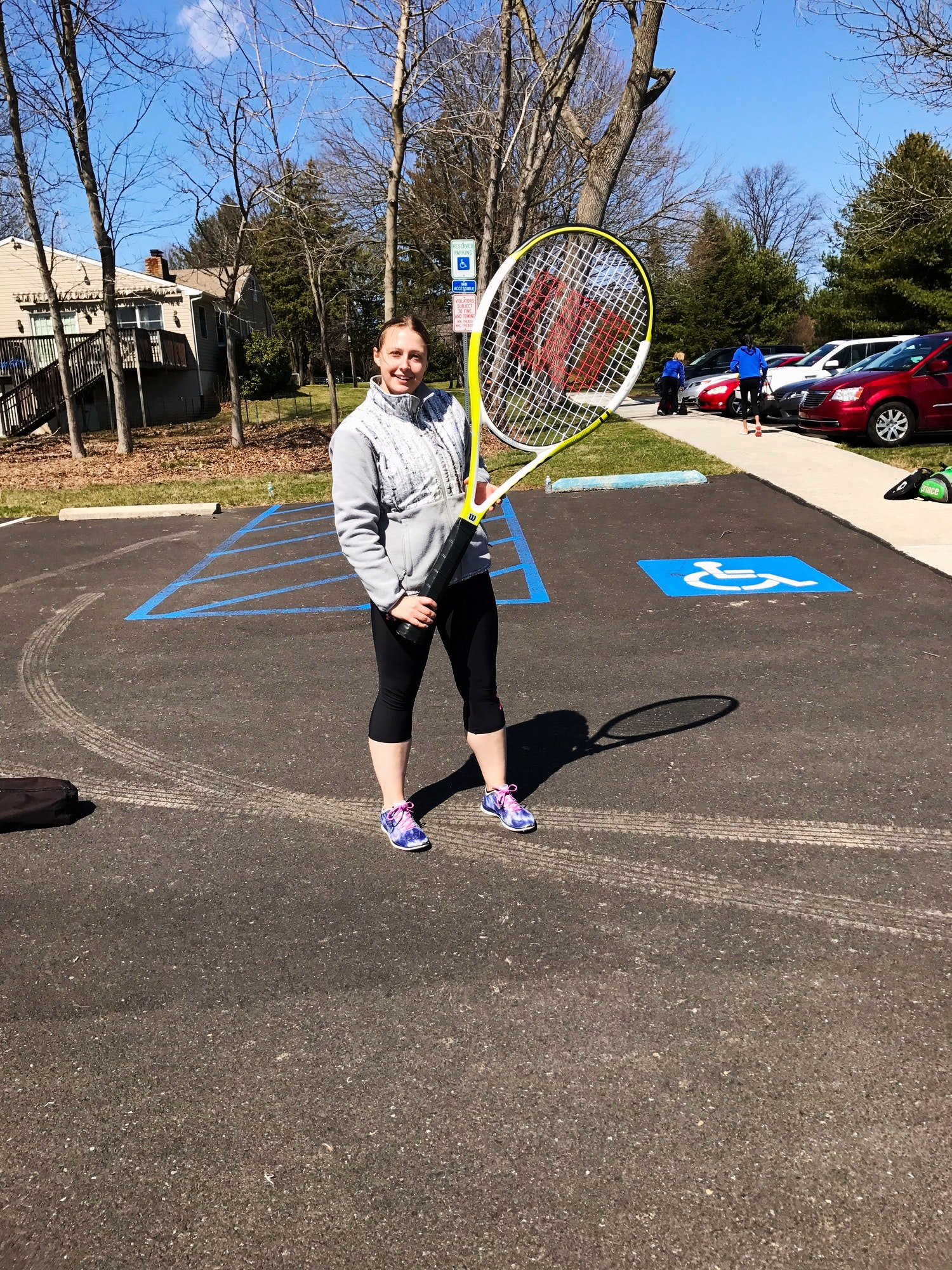 Gabriela D. teaches tennis lessons in Newtown, PA