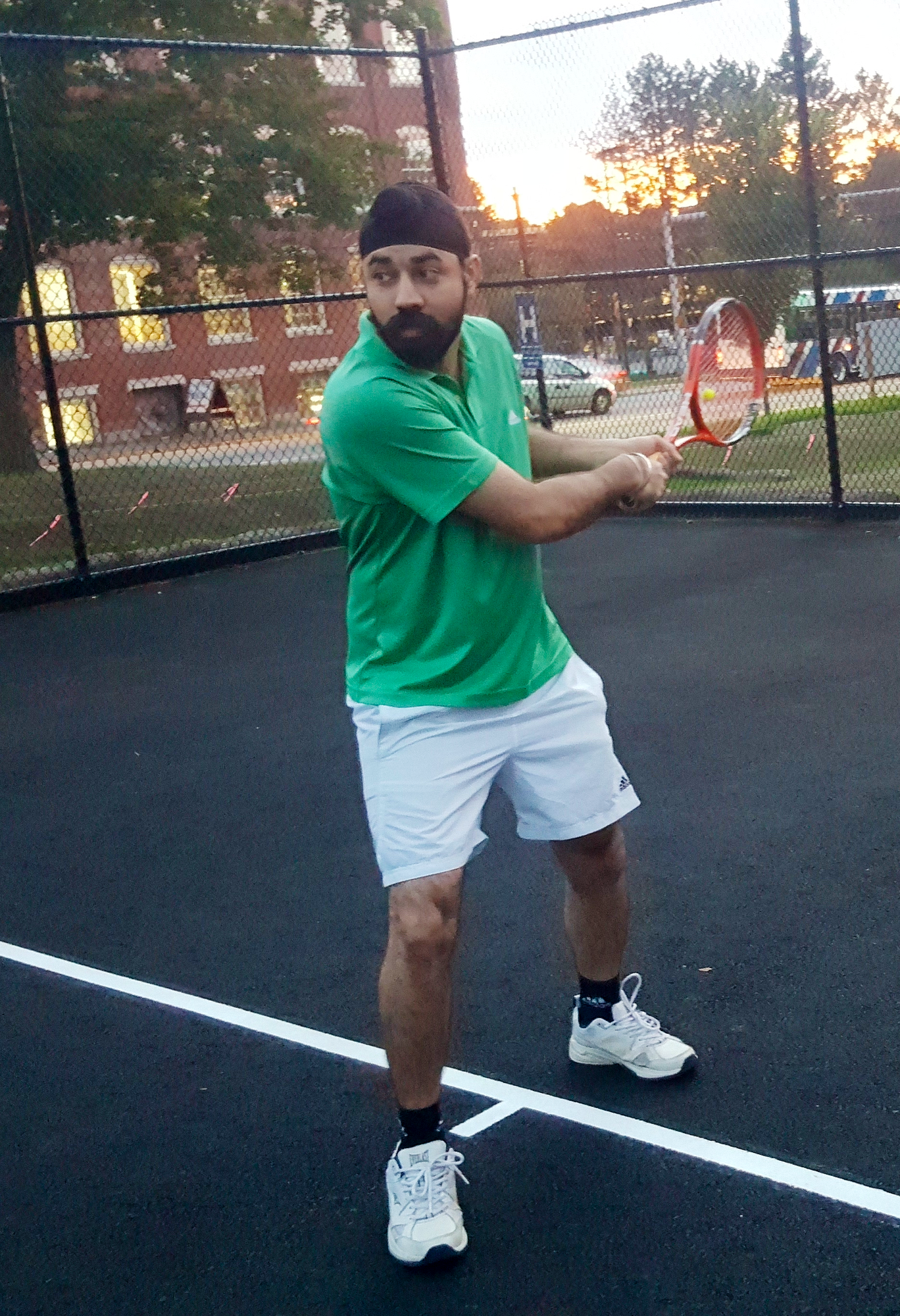 Baldeep G. teaches tennis lessons in Lowell, MA