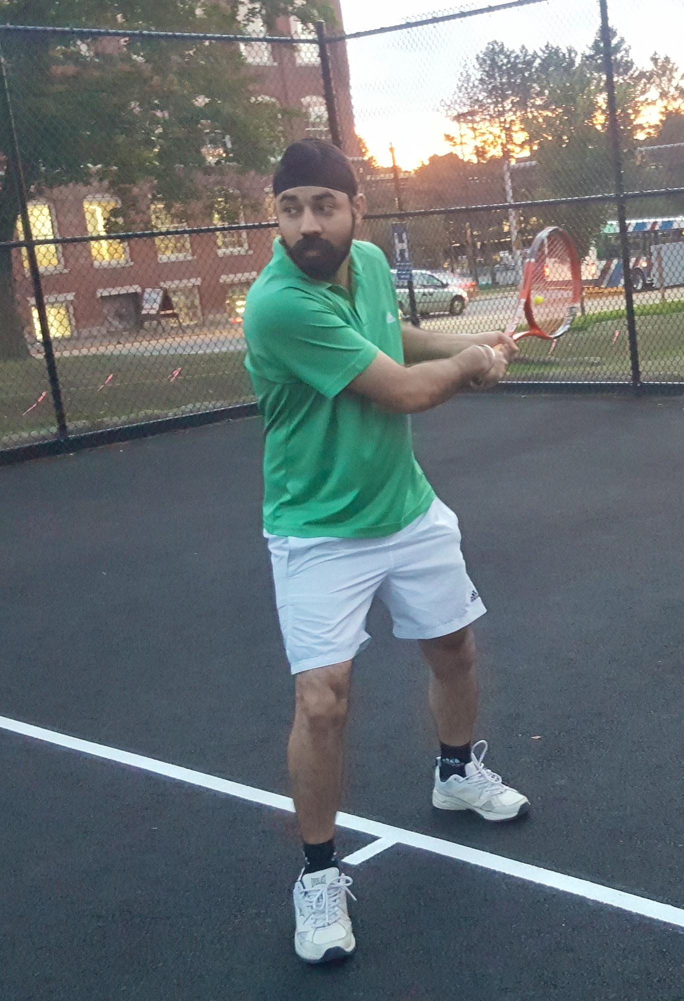 Baldeep G. teaches tennis lessons in Lowell, MA
