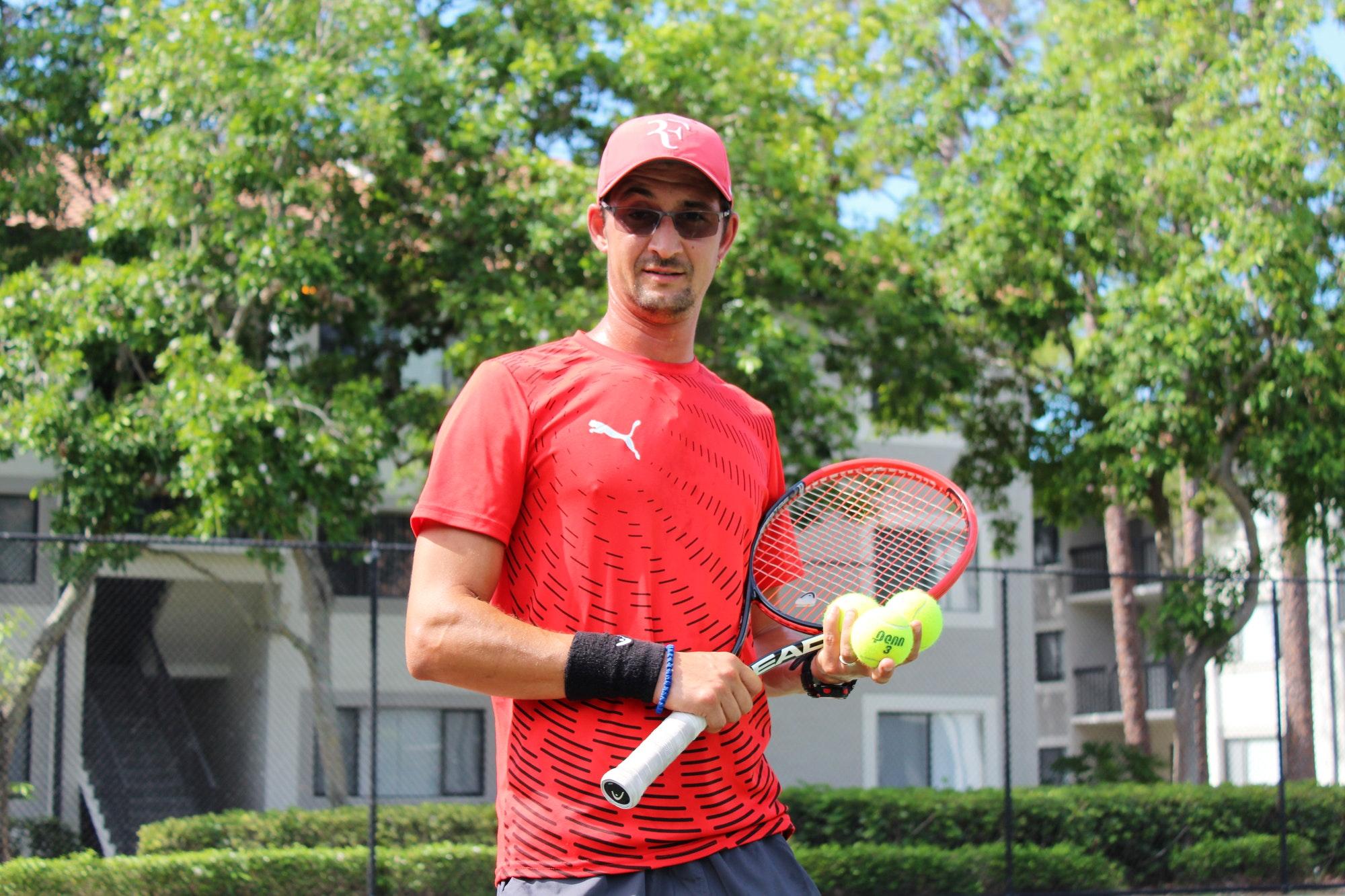 Igor S. teaches tennis lessons in Boca Raton, FL