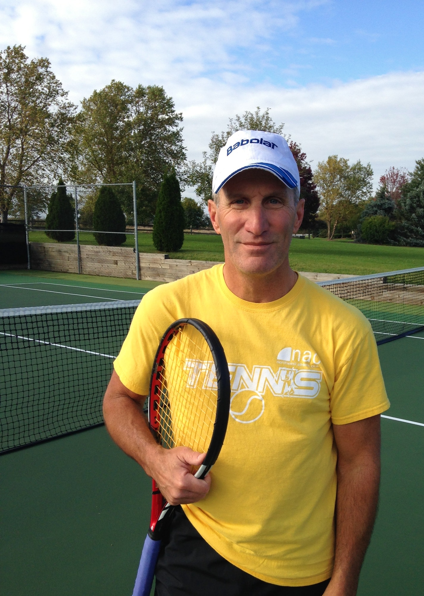 Douglas P. teaches tennis lessons in Orland Park , II