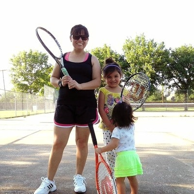 Anna M. teaches tennis lessons in Lewisville, TX