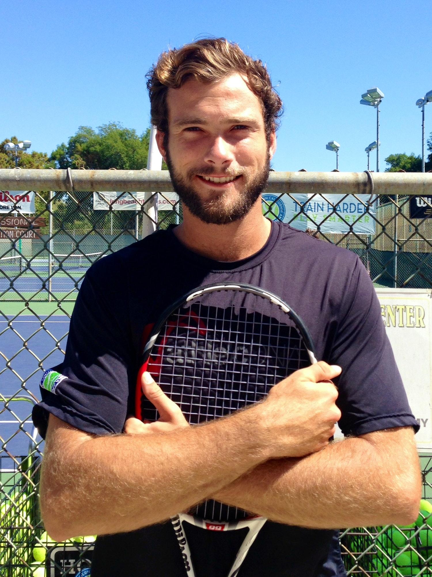 Jordan B. teaches tennis lessons in Seal Beach, CA