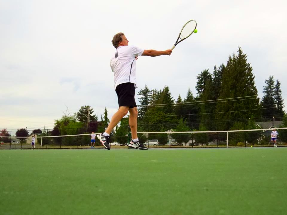 Steve P. teaches tennis lessons in Monroe, WA
