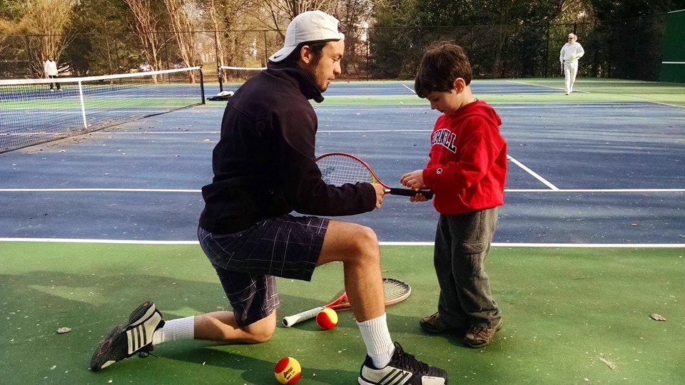 Jorge A. teaches tennis lessons in Raleigh, NC