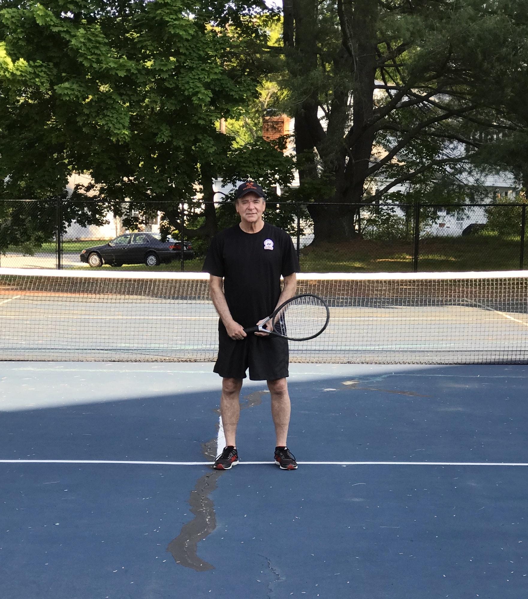 John J. teaches tennis lessons in Woburn, MA