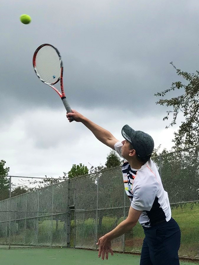 Peter K. teaches tennis lessons in Portland, OR
