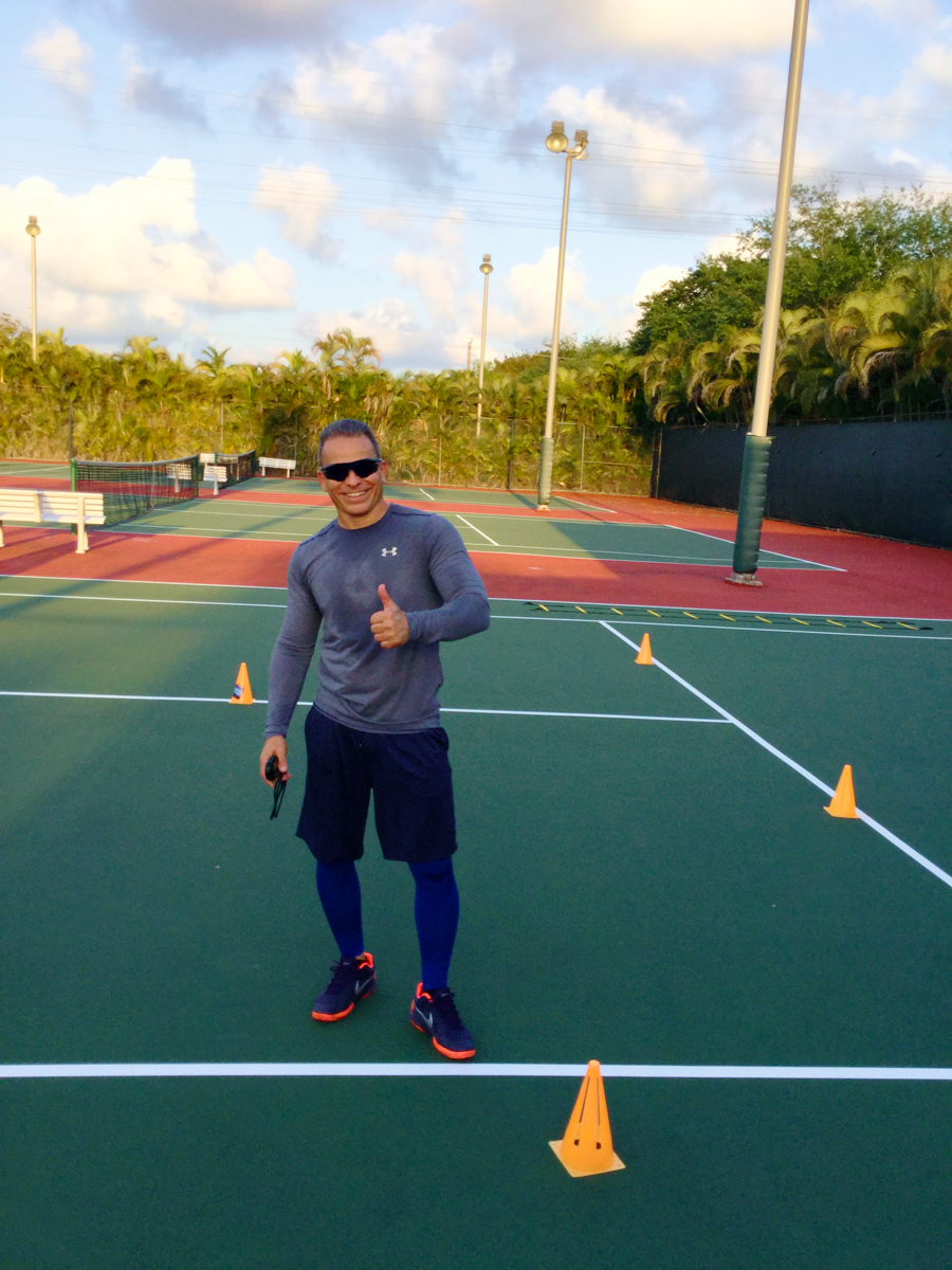 Jorge V. teaches tennis lessons in Miami, FL