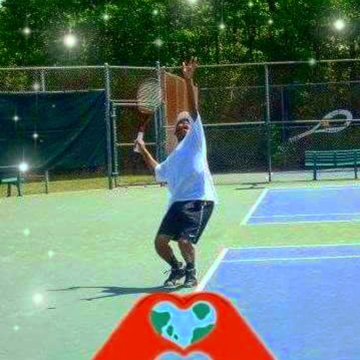Forrest A. teaches tennis lessons in Houston , TX