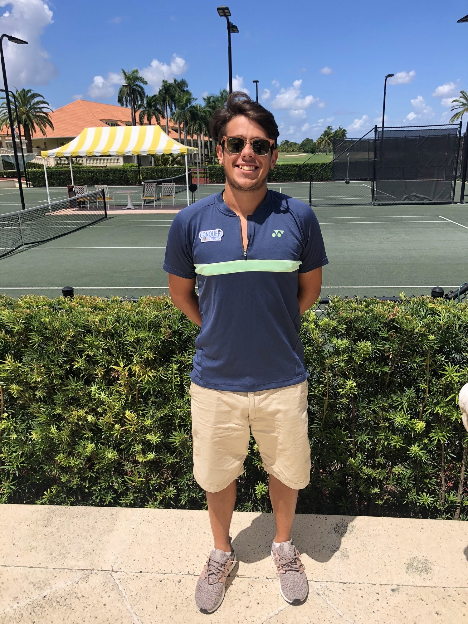 Guilherme F. teaches tennis lessons in Miami, FL