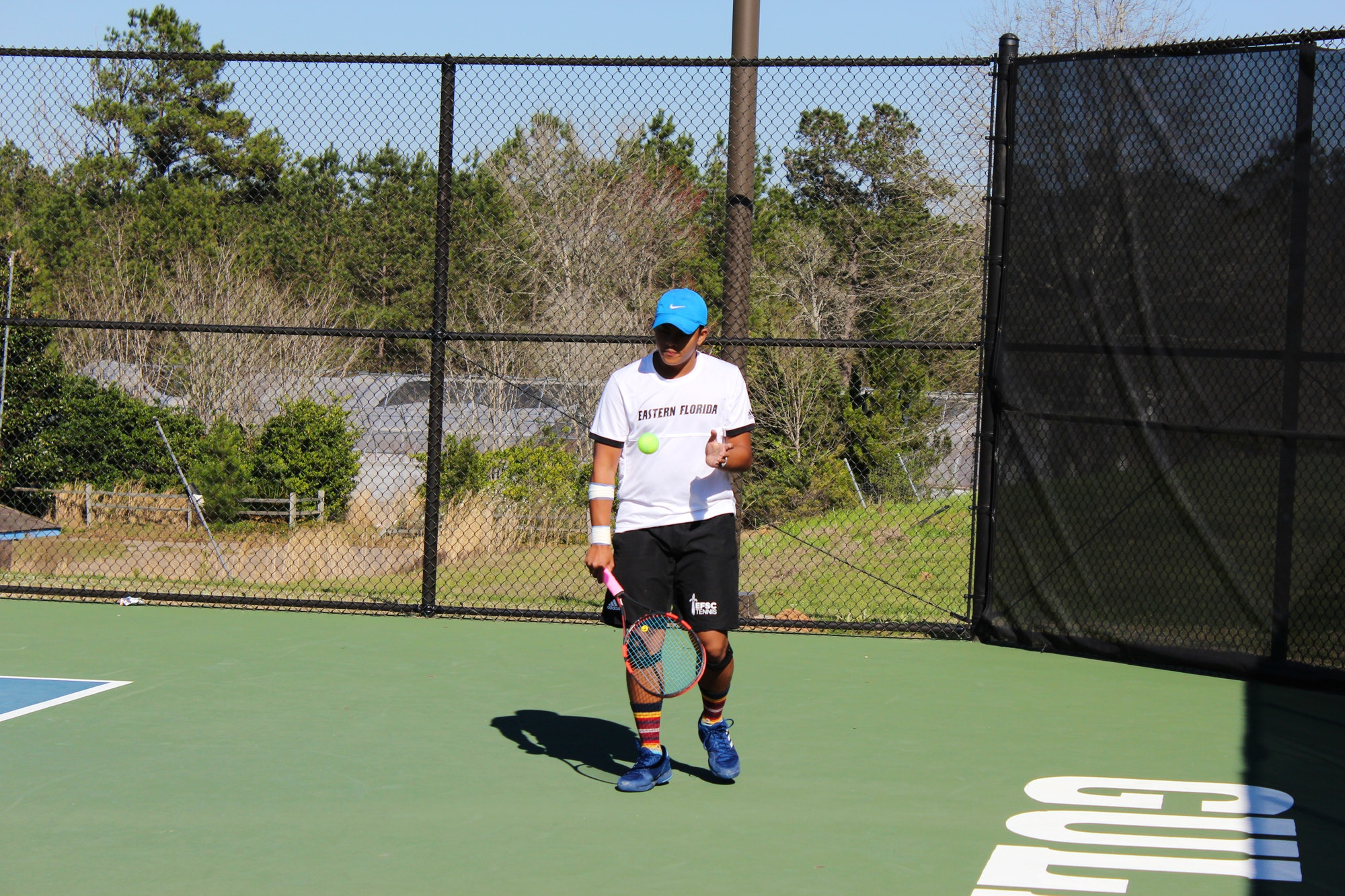 Justine A. teaches tennis lessons in Palm Bay , FL
