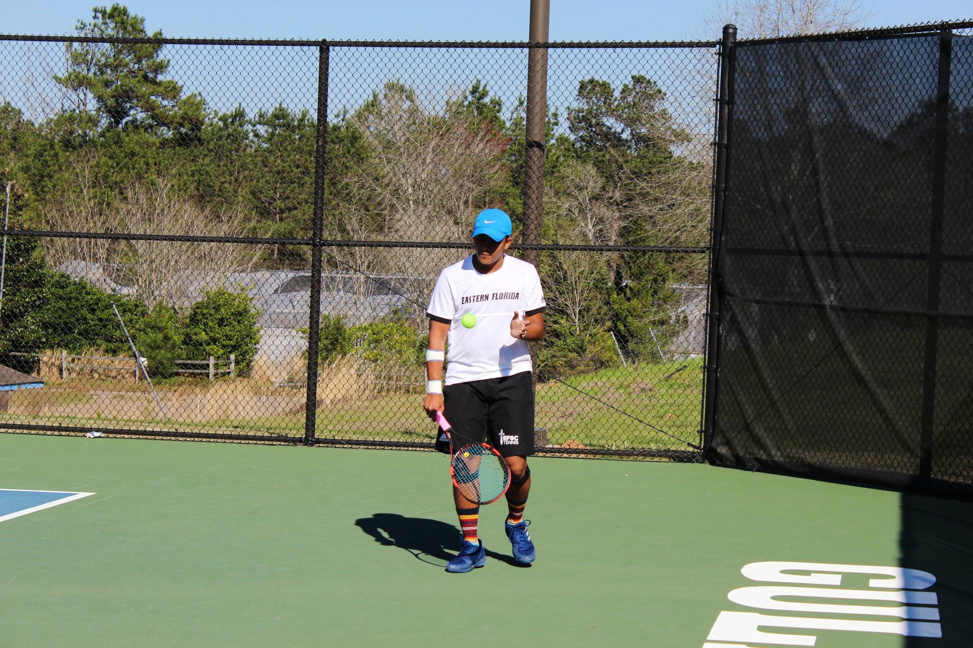 Justine A. teaches tennis lessons in Palm Bay , FL
