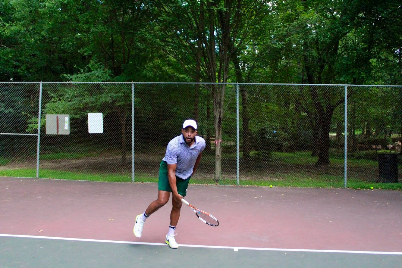 Hartland W. teaches tennis lessons in Charleston , SC