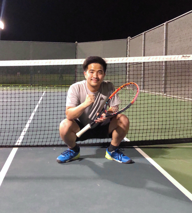 Raphael Y. teaches tennis lessons in Cerritos, CA