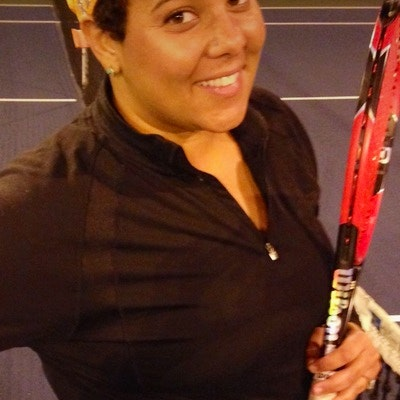 Rachael S. teaches tennis lessons in Lakewood, CA
