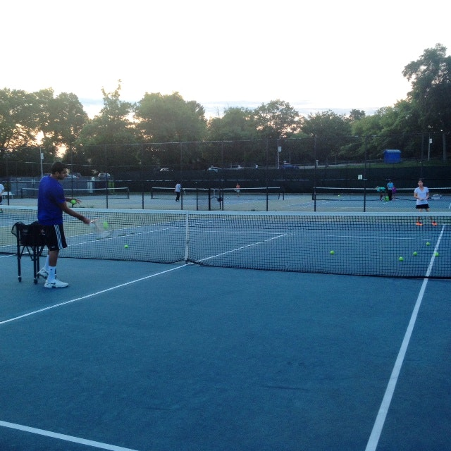 Neil G. teaches tennis lessons in Albertson, NY